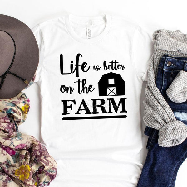 Life Is Better On The Farm  Sublimation Transfer