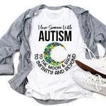 Autism Awareness Love You To The Moon Sublimation Transfer