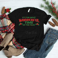 Most Wonderful Time Of The Year - Holly Screen Print Heat Transfer