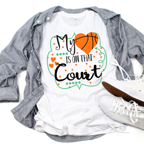 My heart is on that Court Basketball Sublimation Transfer