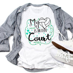 My heart is on that Court Volleyball Sublimation Transfer
