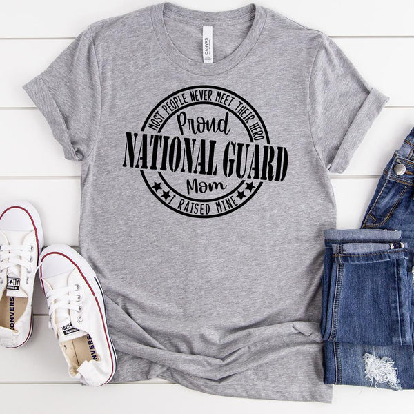 Proud National Guard Mom Military  Screen Print Heat Transfer