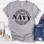 Proud Navy Mom Military  Screen Print Heat Transfer