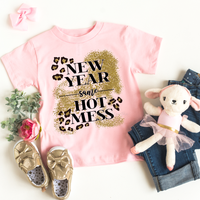 New Year Same Hot Mess Glitter YOUTH Screen Print Transfer