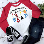 Oh The Places You'll Go When You Read Dr. Seuss YOUTH  Screen Print Heat Transfer