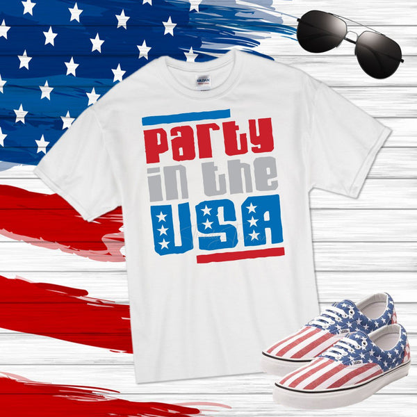 Party in the USA Sublimation Transfer