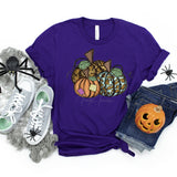 YOUTH Leopard Patchwork Pumpkins Screen Print Heat Transfer