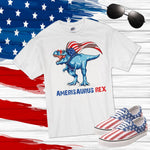 Dino Dinosaur Trex Amerisaurus rex fireworks Patriotic 4th of July Sublimation Transfer
