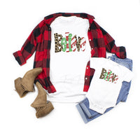 Patterned Believe Word Art Christmas Sublimation Transfer