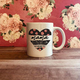 Patterned Heart Mama Sublimation Transfer