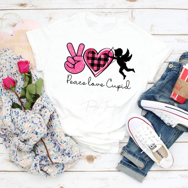 Peace Love and Cupid Sublimation Transfer
