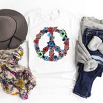 Peace sign floral Sublimation Transfer