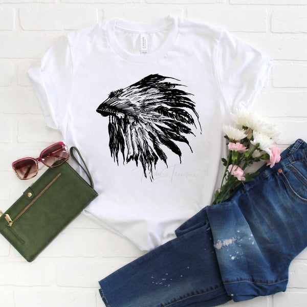 Black indian headdress Sublimation Transfer