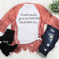 Plant Smiles Grow Laughter Harvest Love Sublimation Transfer