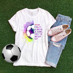 I Know I Play Like a Girl Try To Keep Up Soccer Sublimation Transfer