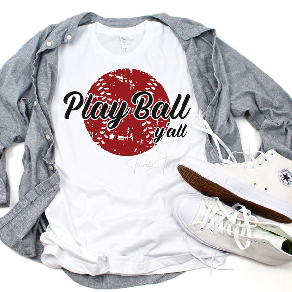 Play Ball Yall Baseball Sublimation Transfer