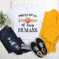 Principal of Tiny Humans Back To School Sublimation Transfer