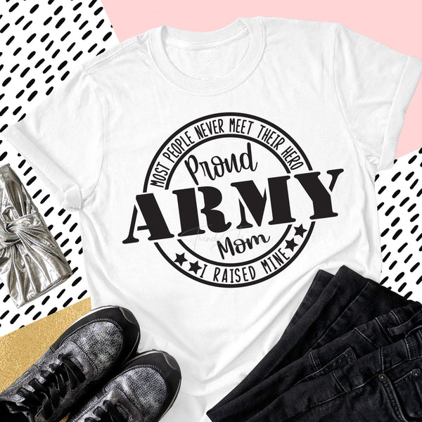 Proud Army Mom Military Civil Servants Sublimation Transfer