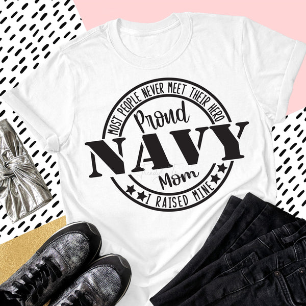 Proud Navy Mom Military Civil Servants Sublimation Transfer