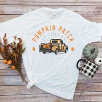 Vintage Truck Pumpkin Patch Fall Plaid Sublimation Transfer