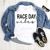 Race Day Vibes Sublimation Transfer