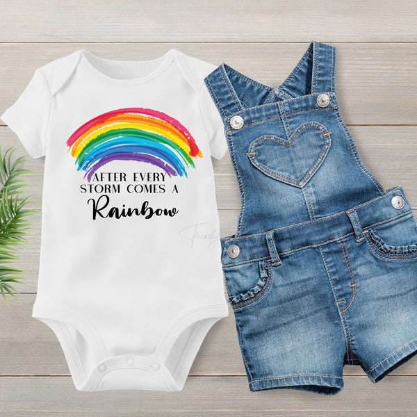 Rainbow baby After the storm comes a rainbow Sublimation Transfer