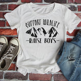 Support Wildlife Raise Boys Screen Print Transfer