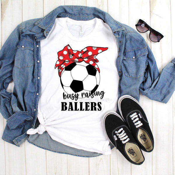 Busy Raising Ballers Soccer Sublimation Transfer