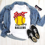 Busy Raising Ballers Softball Sublimation Transfer