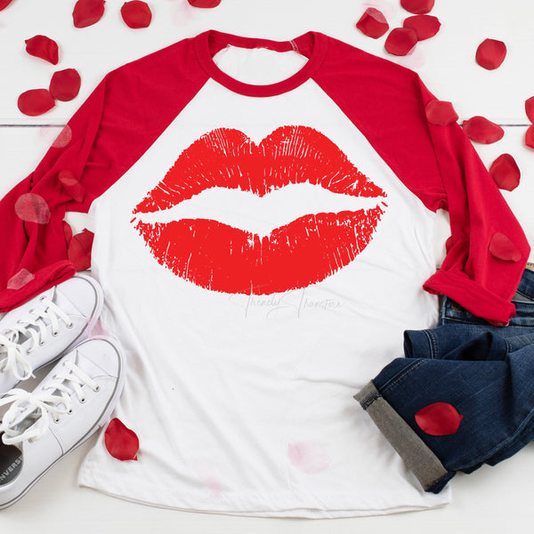 Red Lips Valentine Sublimation Transfer