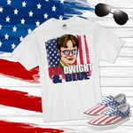 Red Dwight and Blue The office patriotic fan art Sublimation Transfer
