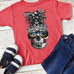 Pineapple Skull With Sunglasses YOUTH SHIPS 7/10 Screen Print Heat Transfer