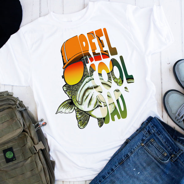 Reel Cool Dad Fishing Sublimation Transfer