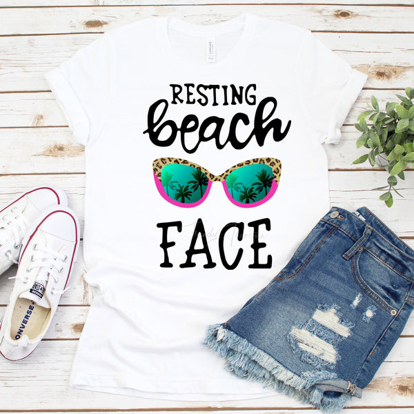 Resting Beach Face Sublimation Transfer