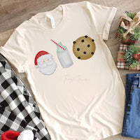 Santa Milk Cookies YOUTH Screen Print Heat Transfer