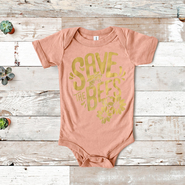 Save The Bees INFANT Screen Print Heat Transfer