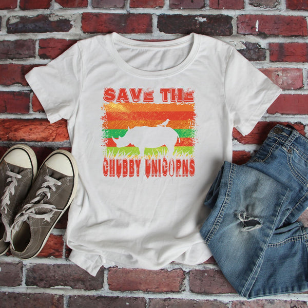 Save The Chubby Unicorns Sublimation Transfer