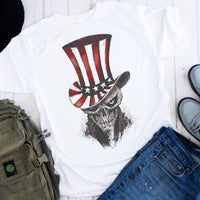 Patriotic Skull USA 4th of July Sublimation Transfer