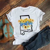 Small Town Girl Sunflower Vintage Classic Truck Alabama Sublimation Transfer