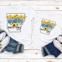 Small Town Girl Sunflower Vintage Classic Blue Truck Arkansas Sublimation Transfer