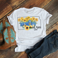 Small Town Girl Sunflower Vintage Classic Truck Kansas Sublimation Transfer