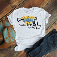Small Town Girl Sunflower Vintage Classic Truck Maryland Sublimation Transfer