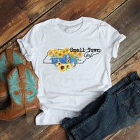 Small Town Girl Sunflower Vintage Classic Truck Tennessee Sublimation Transfer