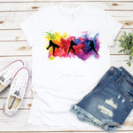 Watercolor Softball Silhouette Sublimation Transfer