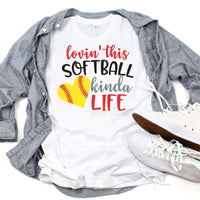 Lovin This Softball Life Sublimation Transfer