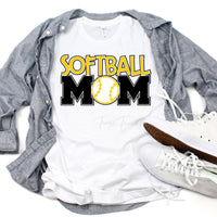 Softball Mom Sublimation Transfer