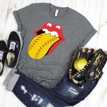 Softball Tongue and Lips ADULT SHIPS 2/17 Screen Print Heat Transfer