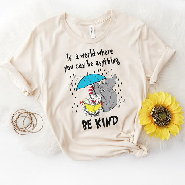 Be Kind Dr. Seuss Screen Print Heat Transfer