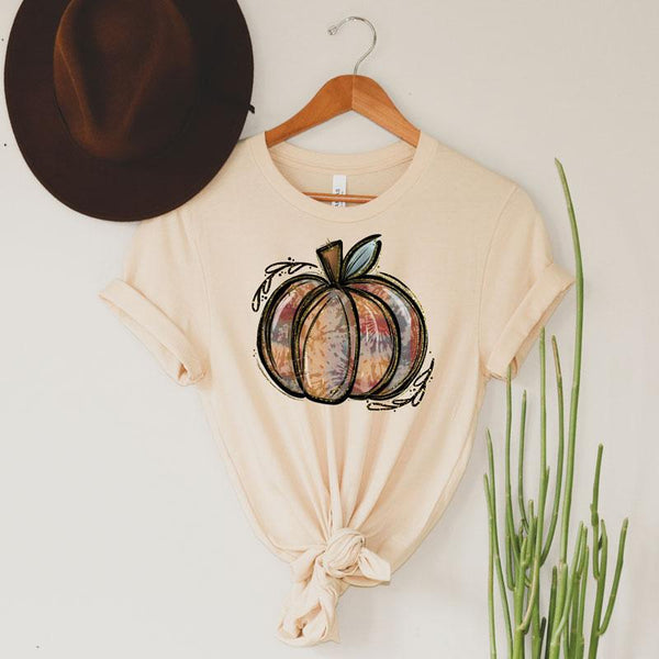 Tie Dye Pumpkin Screen Print Heat Transfer