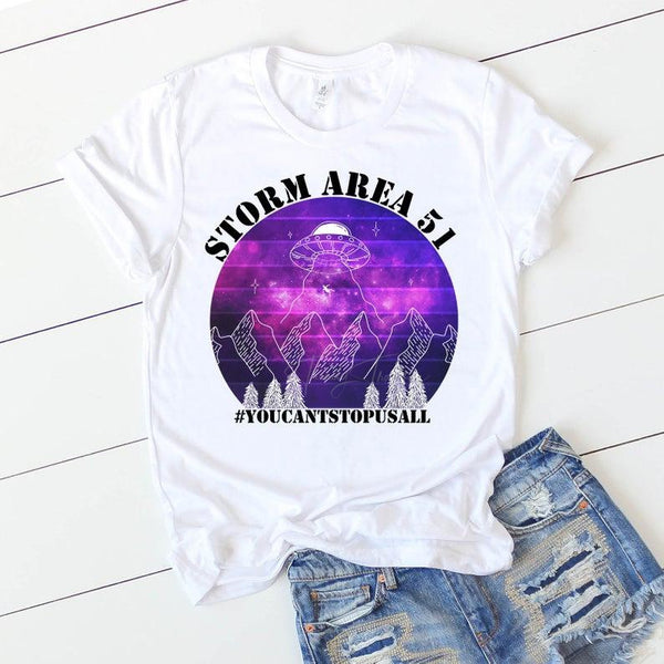 Storm Area 51 You Can't Stop Us All Purple Sublimation Transfer